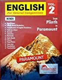 PLINTH TO PARAMOUNT ENGLISH FOR GENERAL COMPETITIONS VOL 2 IN HINDI