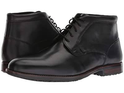 Rockport Dustyn Waterproof Chukka (Black) Men