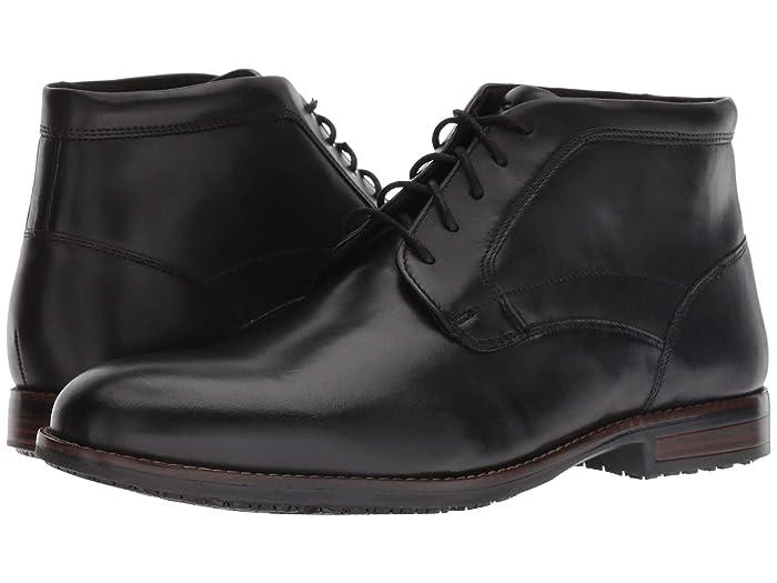 Rockport  Dustyn Waterproof Chukka (Black) Mens Shoes