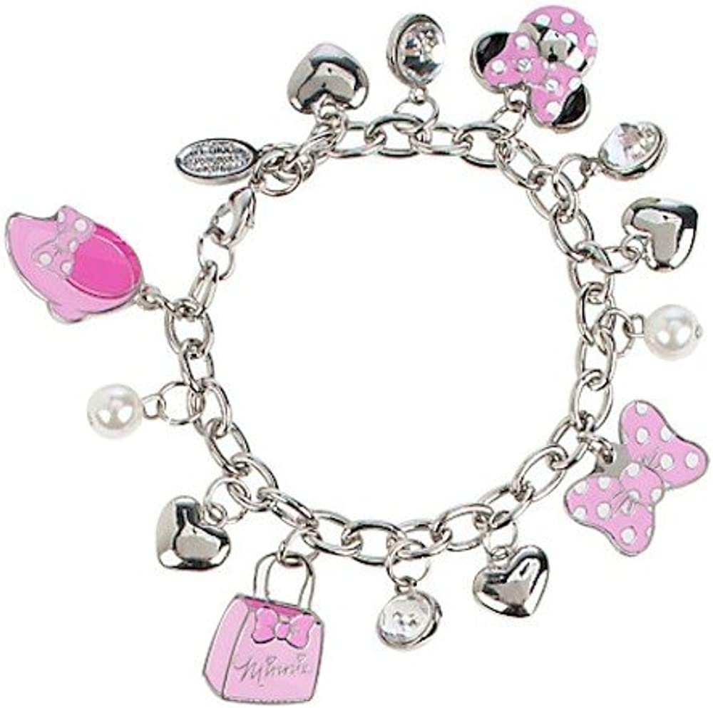 Disney NEW before selling ☆ Minnie Mouse Charm Bracelet outlet