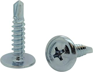 """SNUG Fasteners 100 Qty #8 x 3/4"""" Zinc Wafer Modified Truss Head TEK Self Drilling Sheet Metal Screws (SNG73)"""
