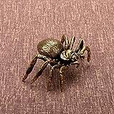 GIAO Figuras de araña de Cobre Macizo, Miniatura Creativa, Juguete de Escritorio, Adorno, decoración, Accesorios artesanales, latón Vintage, Animal, té, Mascota