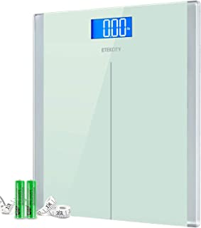 Etekcity Digital Body Weight Bathroom Scale with Step-On Technology, 400 Lb, Body Tape Measure Included, Elegant White