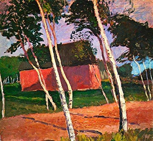 Das Museum Outlet–Landschaft von paula-modersohn-becker, gespannte Leinwand Galerie verpackt. 29,7x 41,9cm