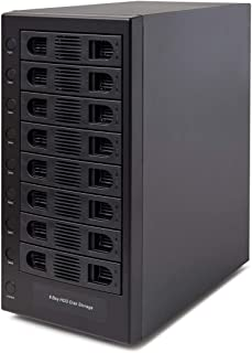 """Syba 8 Bay Tool Less Tray Hot Swappabe 2.5"""" 3.5"""" SATA Non Raid External USB 3.0 Enclosure SY-ENC50119l"""