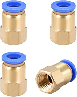 uxcell Push to Connect Tube Fitting Adapter 10mm Tube OD x G1/4