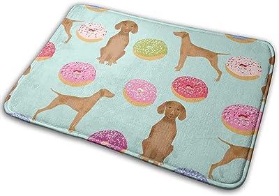 """Vizsla Dogs Cute Dog Food Donuts Pastel Cute Funny Novelty Dog_17120 Doormat Entrance Mat Floor Mat Rug Indoor/Outdoor/Front Door/Bathroom Mats Rubber Non Slip 23.6"""" X 15.8"""""""