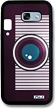 Pin-1 Snap-on Hard Case with Black TPU Bumper for [Samsung Galaxy A5 (2017) / A520] - Art Drawing Retro Instant Camera B 2613