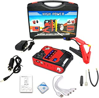 Car Jump Starter 12V Output Portable Emergency Starter Power Bank, with Quick Charge in And Out Port, Built-In LED Flashli...