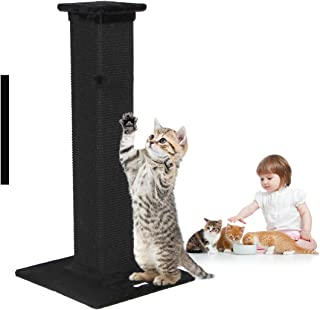 Advwin Cat Scratching Post 4 Paws Stuff Tall Tree Interactive Kittens Toys, Plush Sisal Scratch Pole Cat Scratcher / 84CM(...