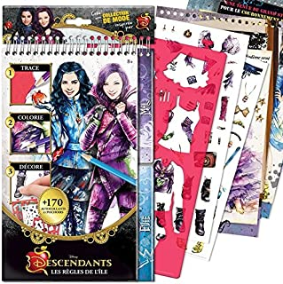 Style Me Up - Descendants Coloring Book - Disney Coloring Pages for Girls - Kids Fashion Coloring Crafts (French) - SMU-2114