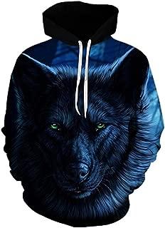 3D Men Wolf Hoodies Sweatshirts Casual Hoodie Animal Spring Tracksuits