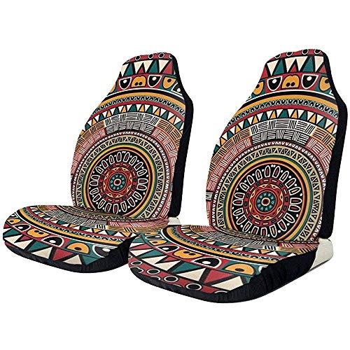Sobre-mesa Autositzbezüge 1PC Tribal Folkloric Tribe Round Aztec Front Autositzbezug Protector Universal Fit