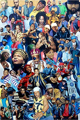 YSLTTY Puzzles 1000 Stück Hip Hop Legenden Star Rap Art Poster Für Erwachsene Kinder Lernspielzeug M-323-KR