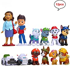 MEMOVAN Paw Dog Patrol Cake Toppers-12Pcs Paw Patrol Birthday Cake Topper Cupcake Topper, Children Mini Figurines Toy, Paw...