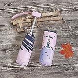 LUKJOPAN Paraguas Mini príncipe príncipe Mujer Paraguas Anti UV Parasol Negro Parasol Rain a Prueba de Viento Plegable Sombrillas portátiles para Chicas jóvenes (Color : 1)