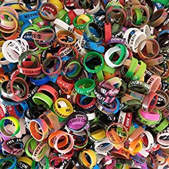 CENGLORY 10PCS Silicone Rings Anti Slip Silicone Bands - Diameter 22mm  10pcs