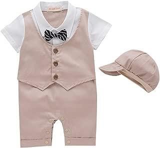 NYAN CAT Infant Baby Boy Romper Short Sleeve Gentleman Outfit Suit Vest Tie and Hat