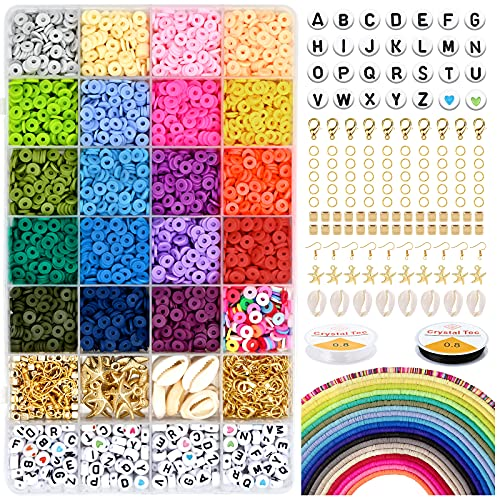 5000 Pcs Flat Round Polymer Clay Beads,6mm Flat Beads Polymer Clay Disc...