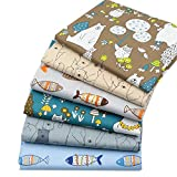6 Stück Fat Quarters Quilting Stoff Bundles, 46x56 cm Top