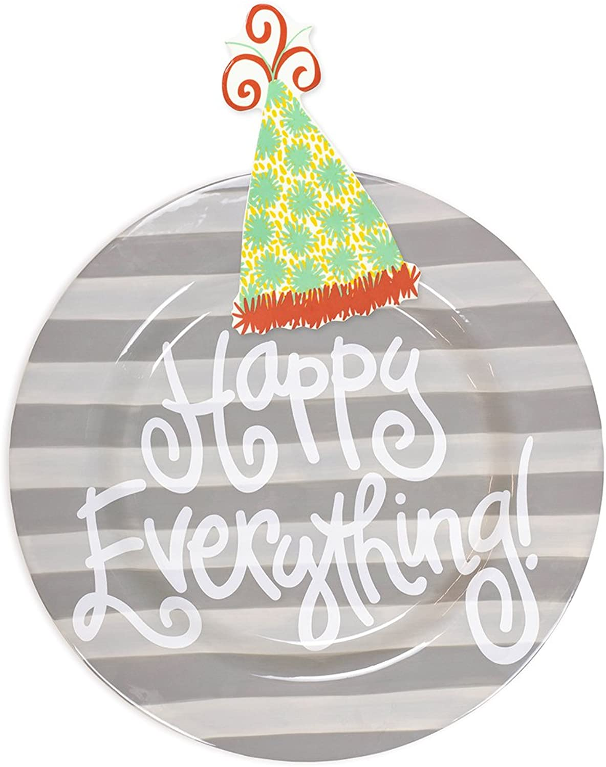 Coton colors Happy Everything Big Platter - Stone Stripe