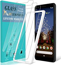 TAURI [3-Pack] Screen Protector for Google Pixel 3a, [Bubble Free] [with Easy Install Alignment Frame] Multiple Defense Technology Tempered Glass