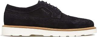 Luxury Fashion | Gant Men 200120633411G69 Blue Suede Lace-up Shoes | Spring-summer 20
