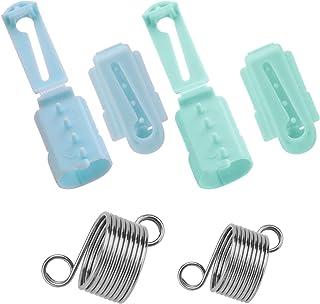 AIEX 6 Pièces Porte-Doigt De Guide De Fil, 4 Pièces en Plastique à Tricoter Dé à Tricoter Boucle à Tricoter, Anneau Au Cro...