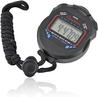 Cronómetro digital racing sports gym reloj detección bicicleta