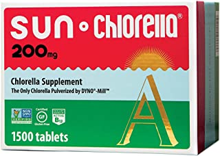 Sun Chlorella - Chlorella Superfood Nutritional Supplement- 500 Mg (200 Mg - 1500 Tablets)