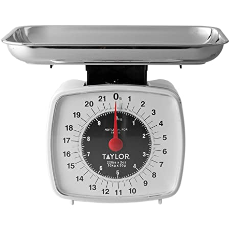 Taylor Precision Products 38804016T Digital Kitchen Scale, Analog, 5-1/2 in L x 5 in W, Multicolor
