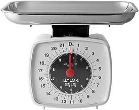 Taylor Precision Products Balança digital de cozinha 38804016T, analógica, 13 cm C x 12,7 cm L, multicolorido