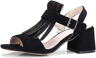 High Heels Sandals Women Shoes Elegant Fringe Ladies Summer Sandals Chunky Heels Shoes