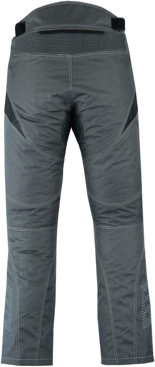 3XL 56 Largo//Cintura 40 Longitud 34 JET Pantalones moto motocicleta hombre vaqueros impermeable con protecciones cordua Dynamo , Gris