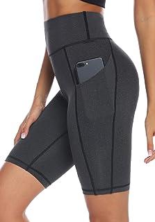 AUU High Waist Yoga Shorts Workout Running Athletic Non See-Through Yoga Pants