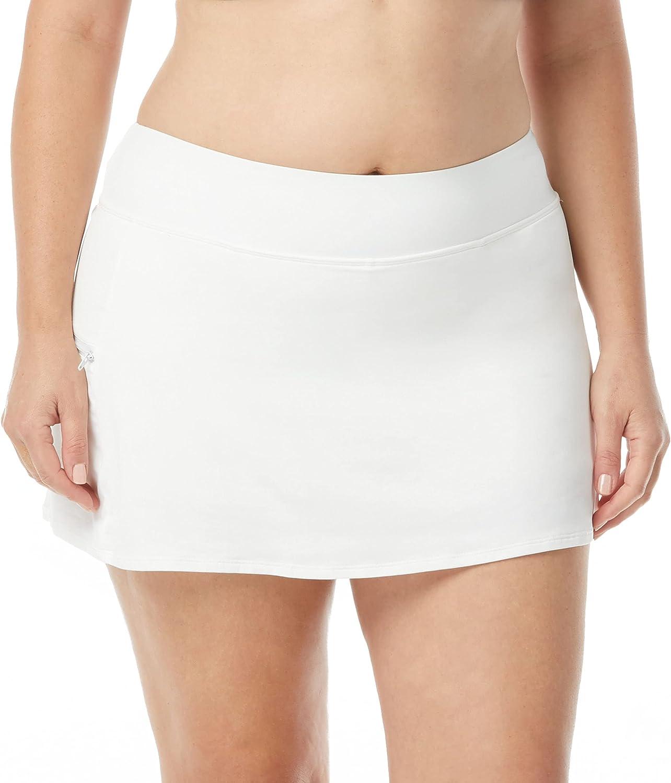 BEACH HOUSE Plus Size Emma Swim Skort — Full Coverage Athletic Swimsuit Skirt with Boy Shorts