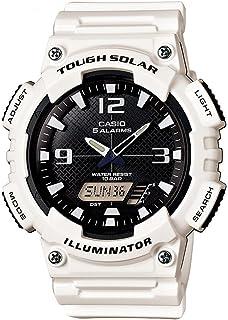 CASIO 卡西欧 AQ-S810W AQ-S810WC 光动能运动防水男表数字双显夜光时尚手表