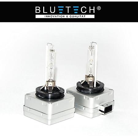 Bluetech 2x D1s Diamond Blue Xenon Brenner Mit 6000 Kelvin 3200 Lumen Mit E PrÜfzeichen Und Stvzo Zulassung Auto