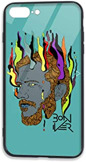 GaoQunShafgd Bon Iver iPhone 7/8 Plus Cases Tempered Glass Back Shell Pattern Designed with Soft TPU Bumper Case for Apple iPhone 7/8 Plus Cases
