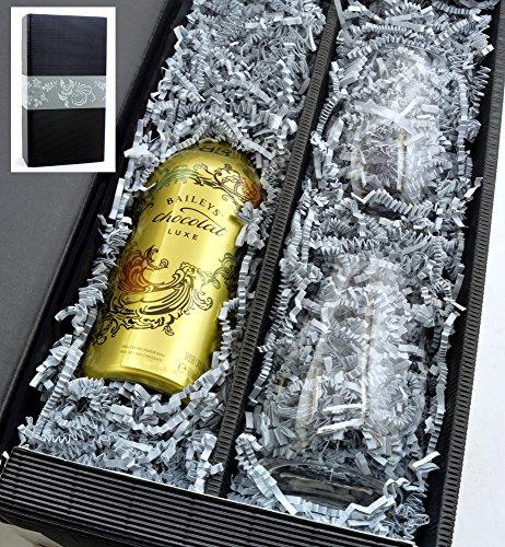 Baileys Chocolat Luxe 15,7% 0,5l mit 2 Stölzle Gläsern in Geschenkkarton