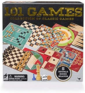 101 Classic Board Game Collection Cardinal Checkers, Chess & More