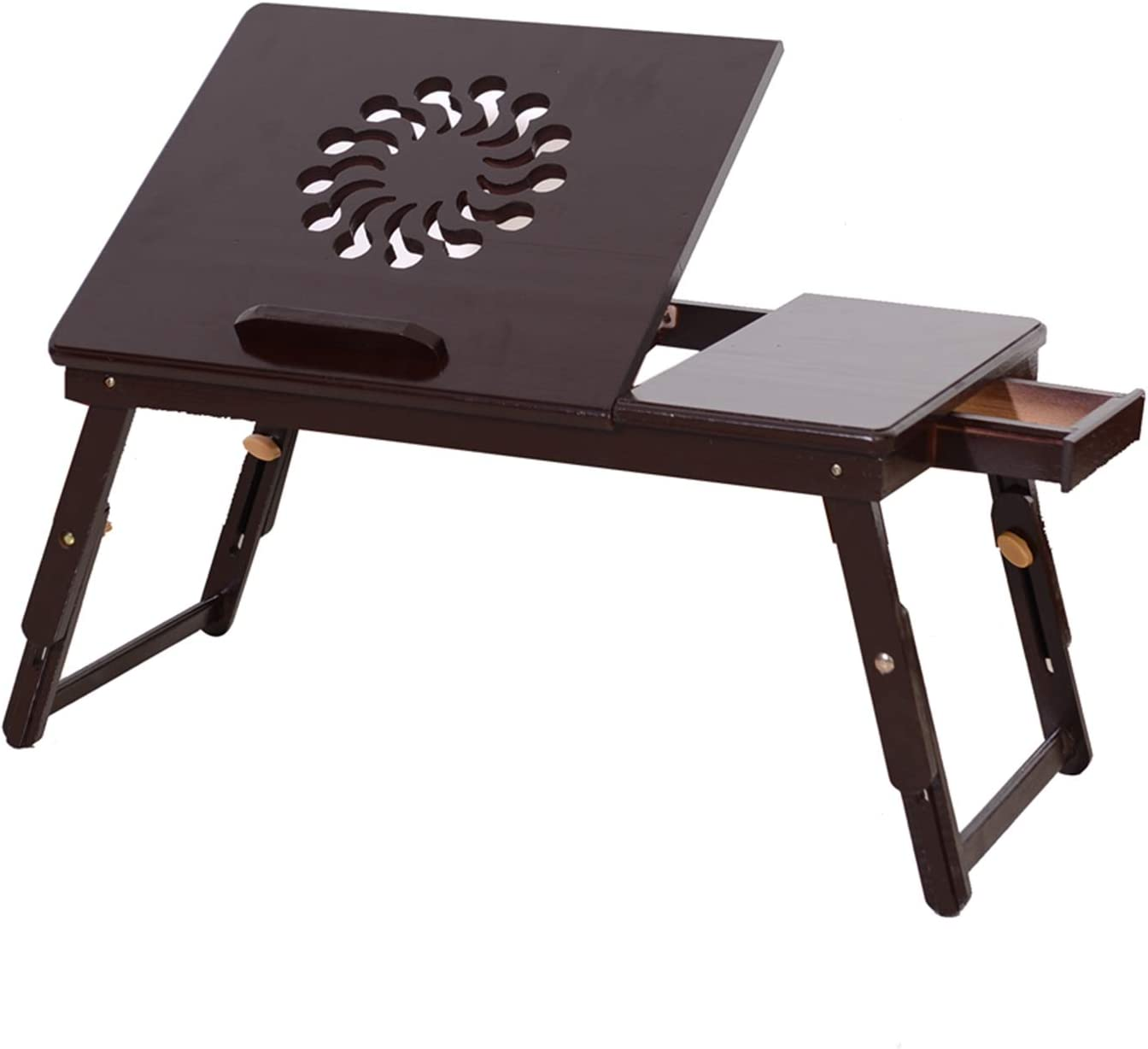 Bamboo Bed Desk Adjustable Small Laptop Tray Sale Fees free!! item Lap
