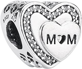 PANDORA Tribute To Mom Charm, Sterling Silver, Clear Cubic Zirconia, One Size