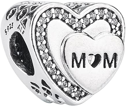 950d4331f Pandora Tribute to Mum Silver Charm with Clear Cubic Zirconia 792070CZ