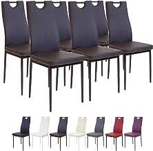 Albatros SLERNO krzesła do jadalni, zestaw 6 sztuk, brązowe, sprawdzone przez SGS