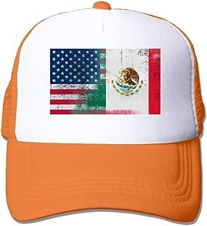 YINGYINZM Half Mexican Half American Unisex Mesh Adjustable Plain Baseball Cap Trucker Hat