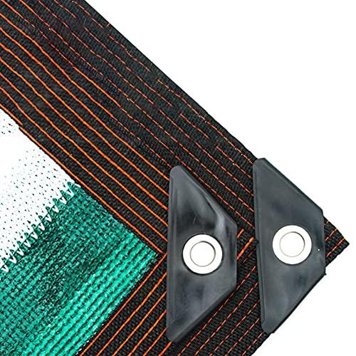 HWLL Malla Sombreo Cubiertas de La Sombra del Camión del Coche, Panel de Privacidad y Red de Protección Solar de Rayas Blancas Verdes con Ojales, para Patio/Toldo de Ventana/Marquesina/Pérgola/Mira
