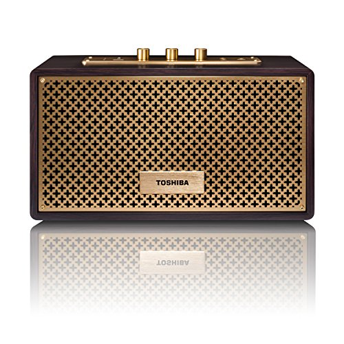 Toshiba Wireless Bluetooth Speakers: Vintage Retro Home Speaker Box System with USB Playback