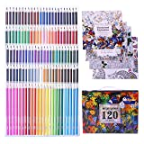 Laconile 120 Oily Art Coloured Pencils Vibrant Colors Pre-Sharpened Coloured Pencils Set