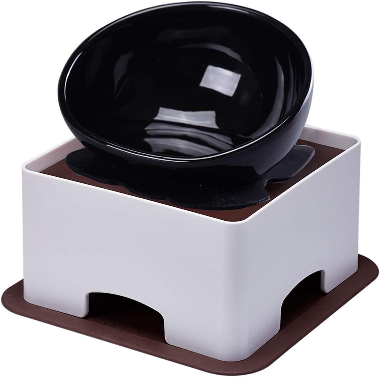 9. YMAXGO Ceramics Single Flat Face Cats/Dogs Feeding Bowl